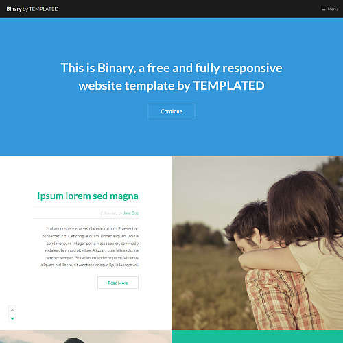 Binary HTML Website Template