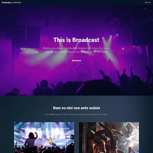 Broadcast HTML Website Template