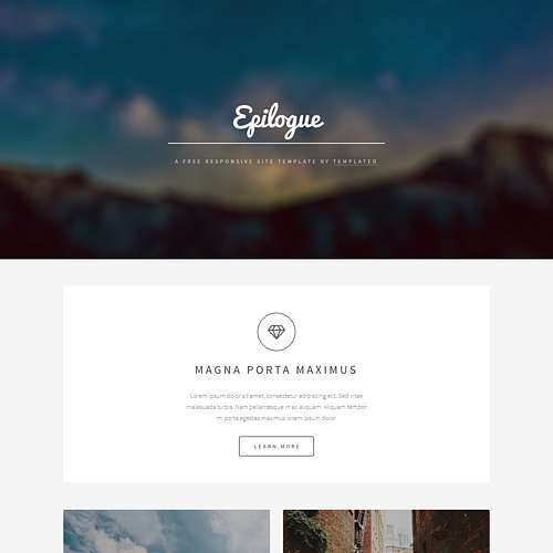 Epilogue HTML Website Template