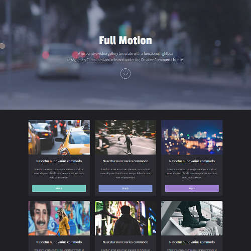 Fullmotion HTML Website Template