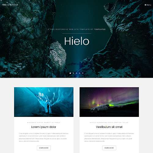 Hielo HTML Website Template