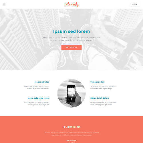 Intensify HTML Website Template