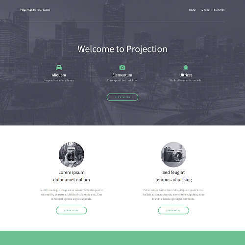 Projection HTML Website Template