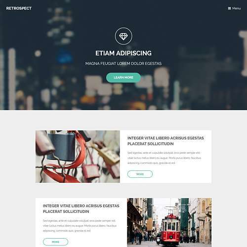 Retrospect HTML Website Template