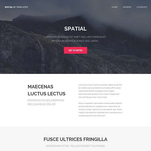 Snapshot HTML Website Template