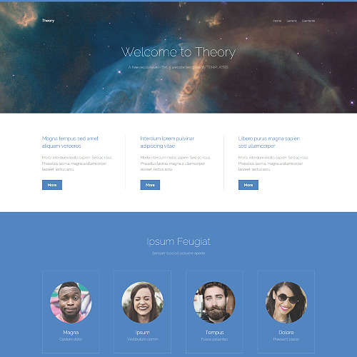 Theory HTML Website Template