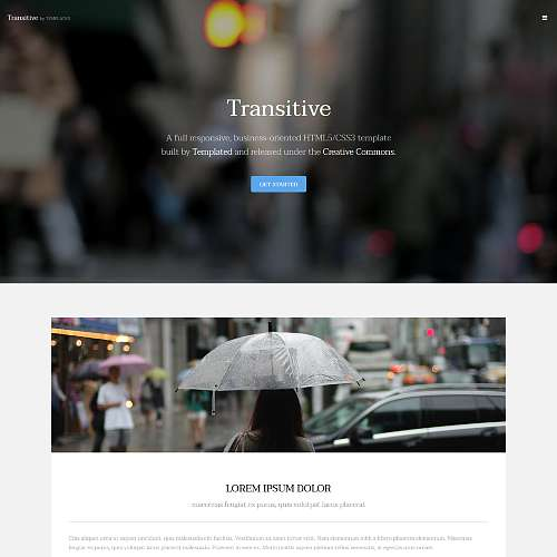 Transitive HTML Website Template